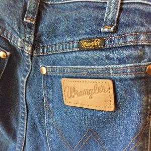 Vintage Wrangler Straight Leg Jeans, Sz 28x36